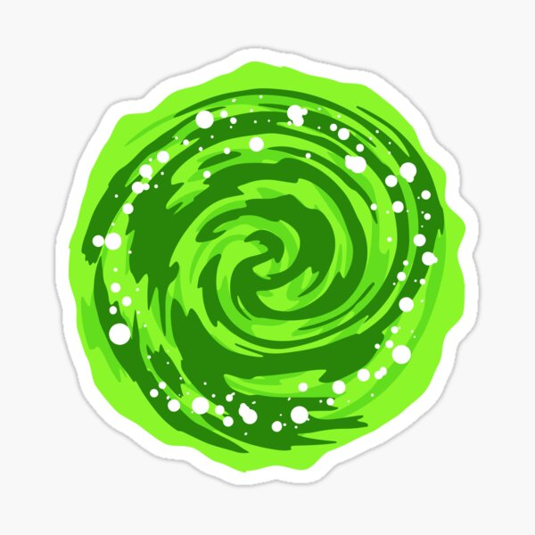 Portal Gun - Green Portal  Sticker