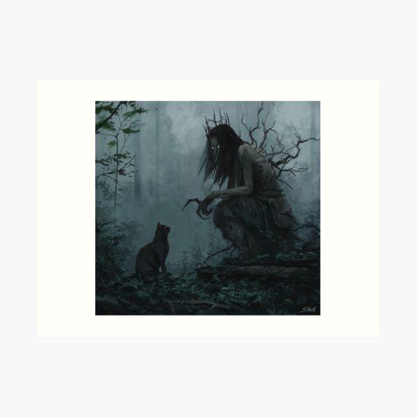Creepy Painting 1 Art Print