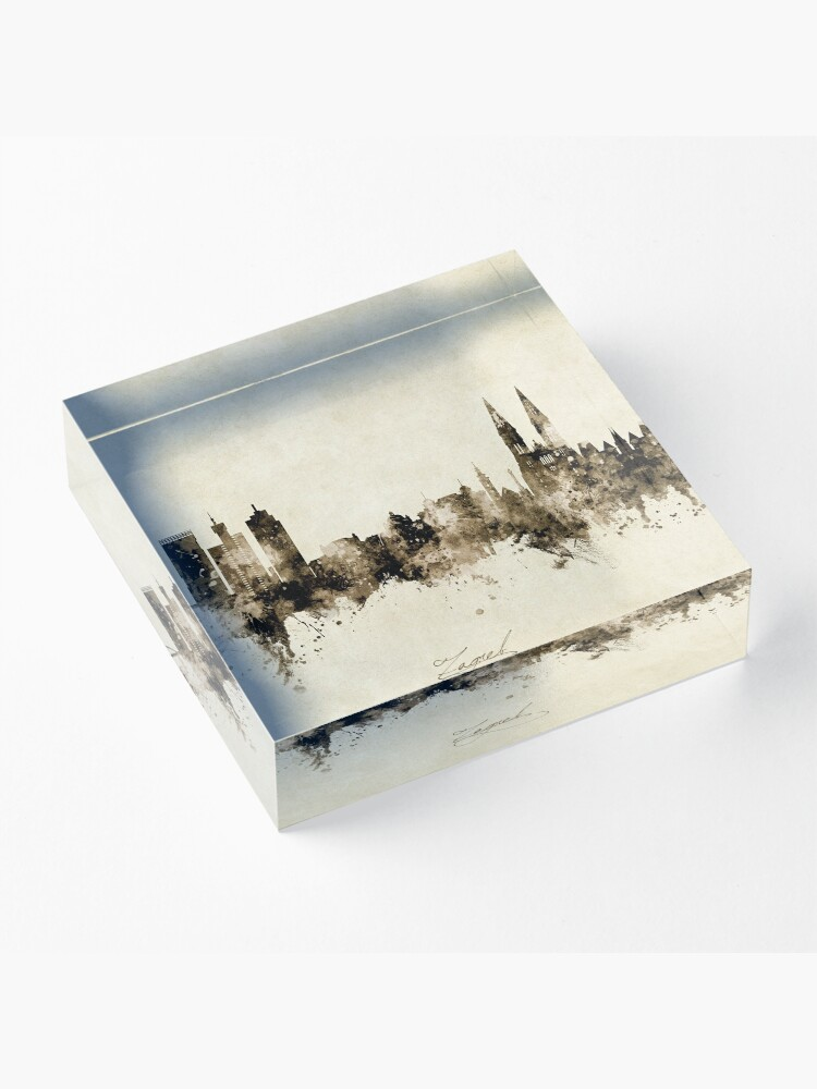 Alternate view of Zagreb Croatia Skyline Acrylic Block