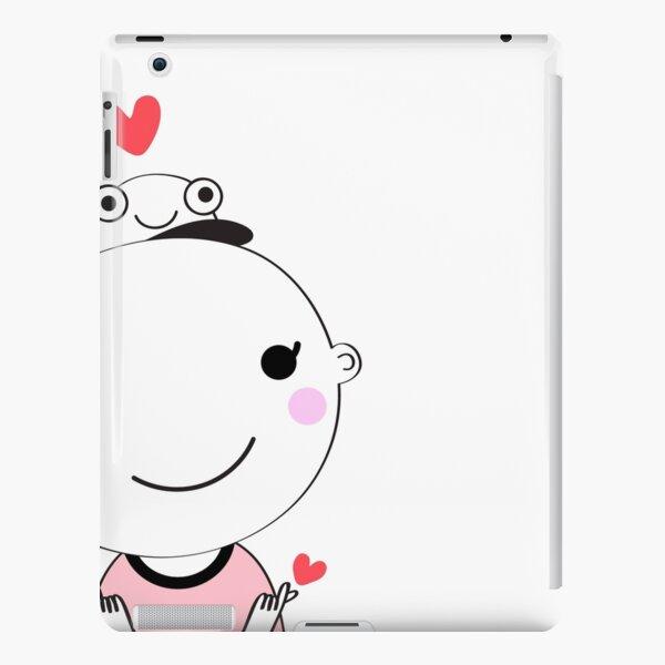 cute doodle boy with heart   cartoon  design   iPad Snap Case