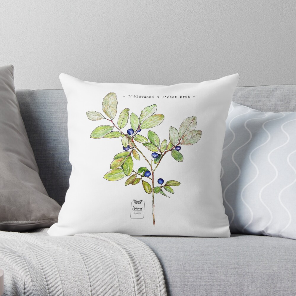 ELEGANCE IN THE RAW STATE Throw Pillow