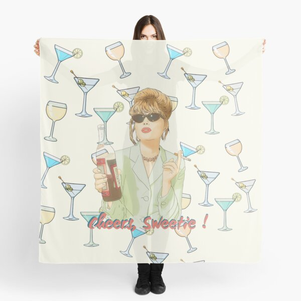 Cheers sweetie Patsy Stone absolutely fabulous  Scarf