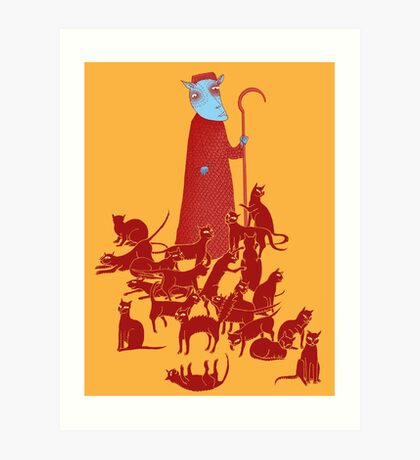 Herding Cats Art Print