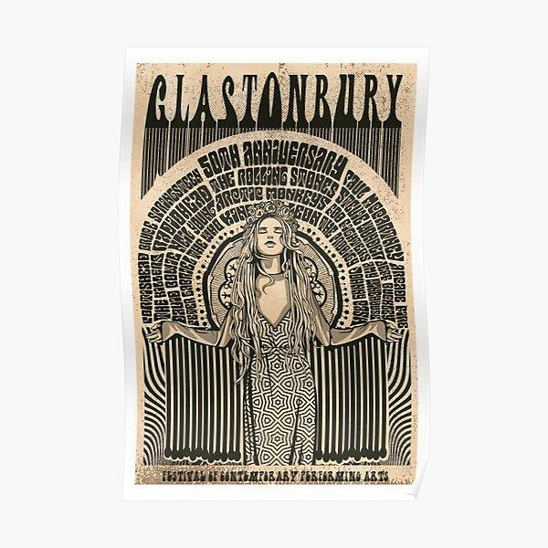 Glastonbury 50 Year Anniversary Poster Poster