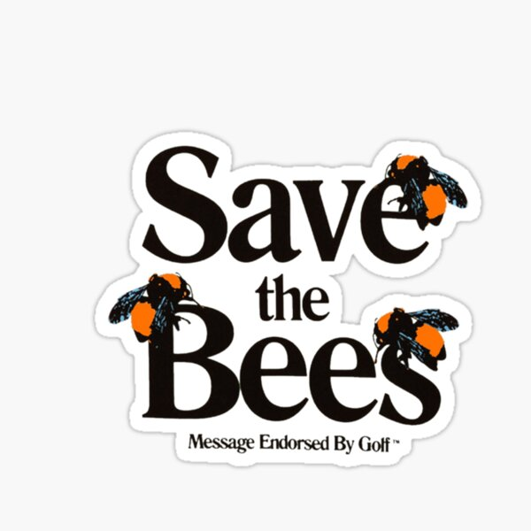 Save The Bees Golf Wang Logo Sticker