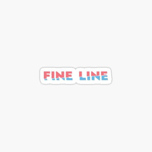 Delgada linea Pegatina