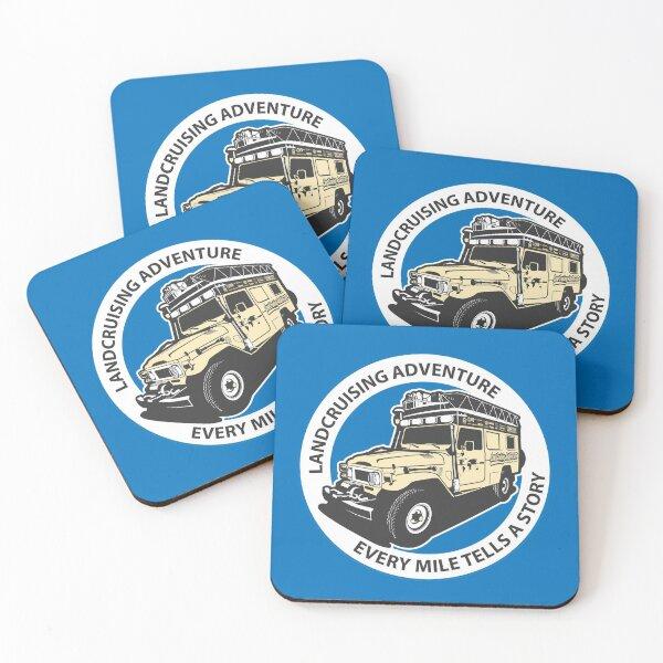 Blue Circle  Coasters (Set of 4)