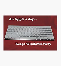 An Apple a day... keeps Windows away Photographic Print