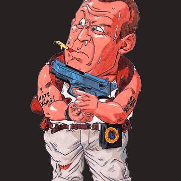 John McClane (Bruce Willis) - Akira Toriyama style by nostalgicboy