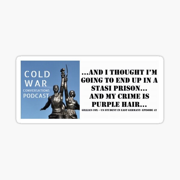 US Student Cold War Quote Sticker