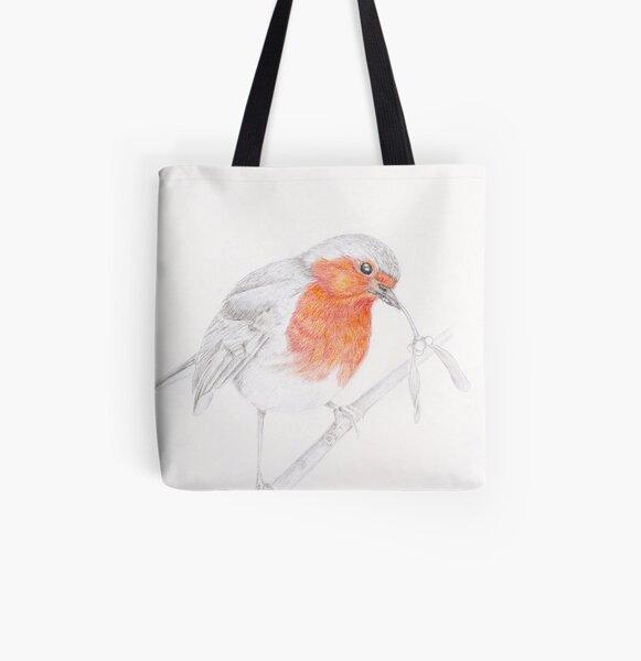 Cheeky Robin All Over Print Tote Bag