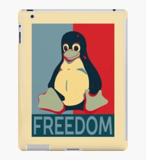Tux Freedom for Linux Users iPad Case/Skin