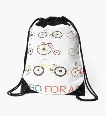 Let's go for a ride Drawstring Bag