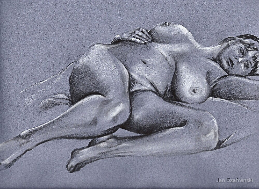 Reclining female nude #4 by Jan Szafranski