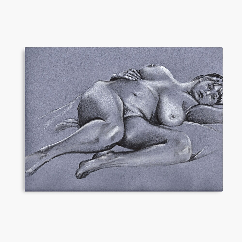 Reclining female nude #4 Canvas Print