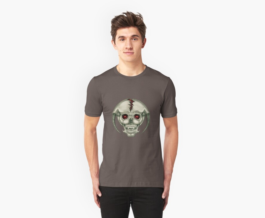Alien Skull Tee by Diane Johnson-Mosley