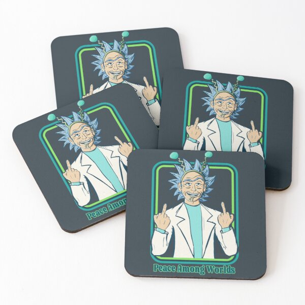 Rick and Morty | Retro Peace Among Worlds Coasters (Set of 4)