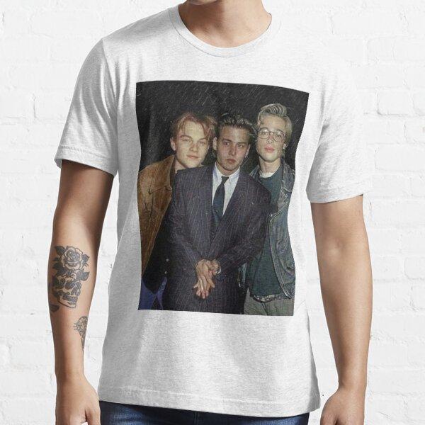 Young Leonardo Dicaprio & Brad Pitt & Jonny Depp Essential T-Shirt