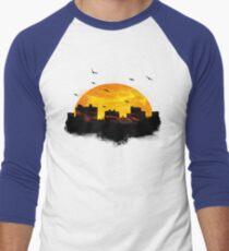 Cool Sunset - City Skyline - Cute Birds Men's Baseball ¾ T-Shirt
