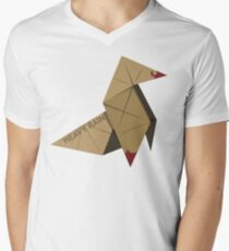HEAVY RAIN: ORIGAMI BIRD Men's V-Neck T-Shirt