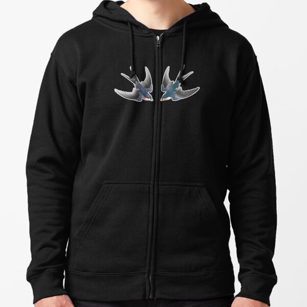 TWO SWALLOWS Zipped Hoodie