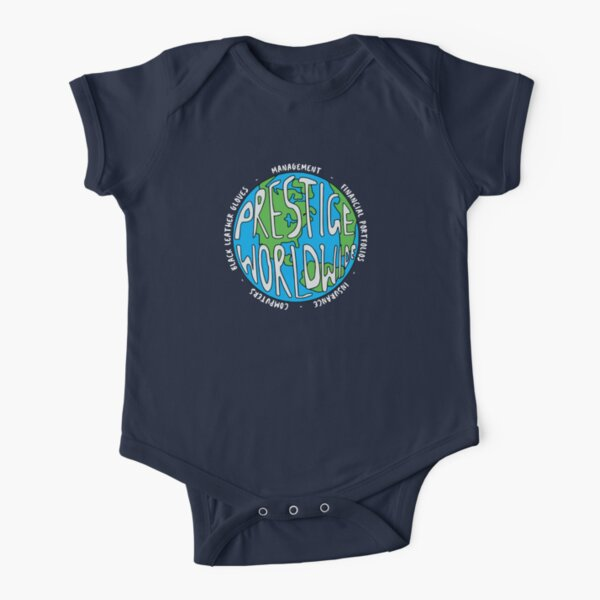 Step Brothers | Prestige Worldwide Enterprise | The First Word In Entertainment | Original Design Short Sleeve Baby One-Piece