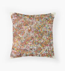 Where is wally in this product? Throw Pillow