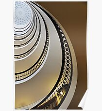 Vintage Staircase Poster
