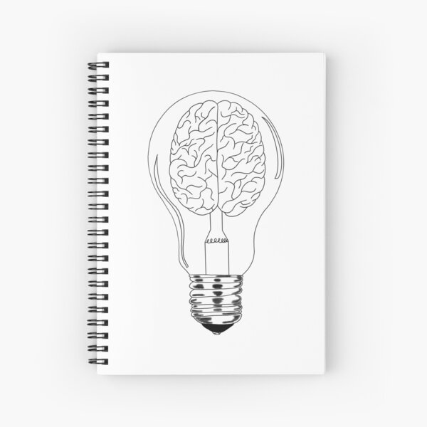Brain lightbulb Spiral Notebook