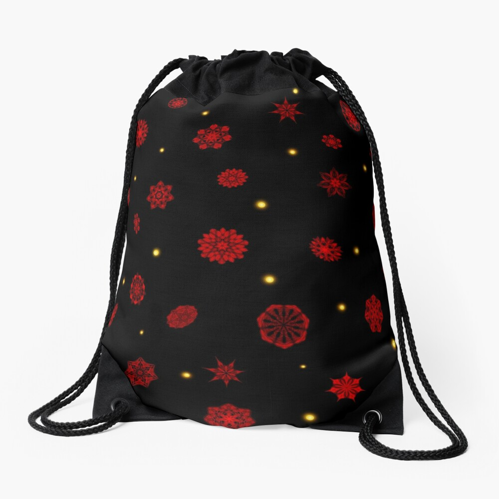 Fire in the Night Drawstring Bag