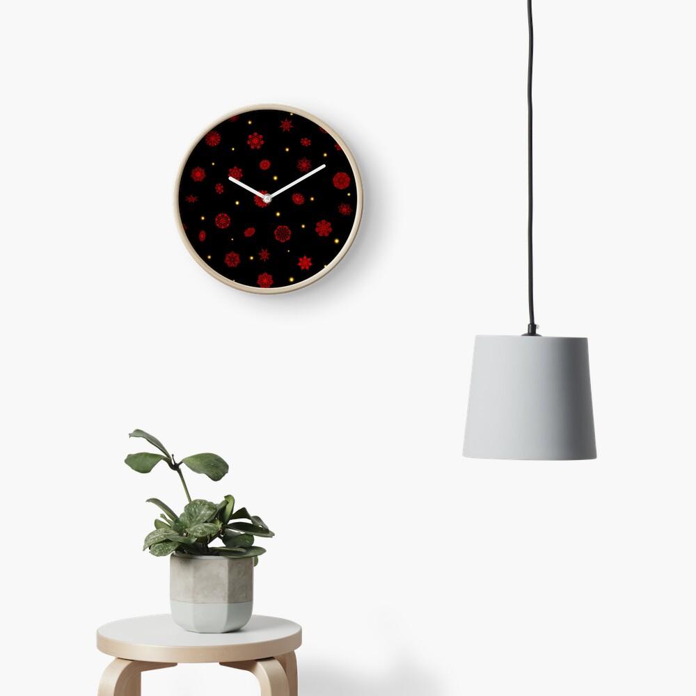 Fire in the Night Clock