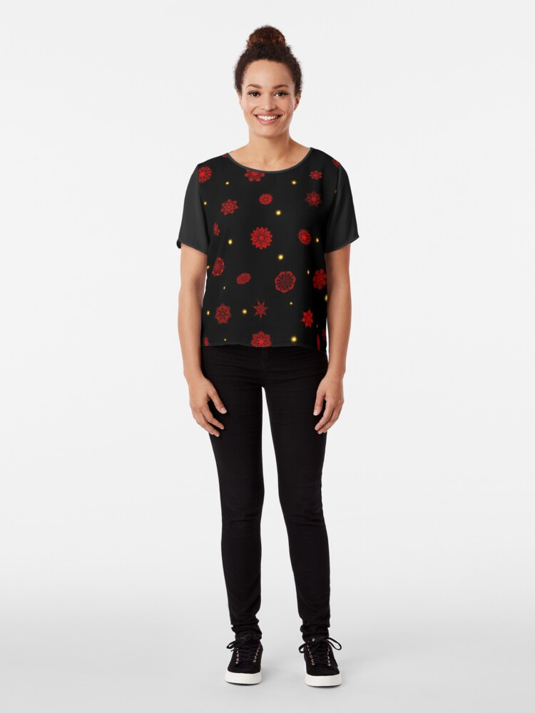 Alternate view of Fire in the Night Chiffon Top