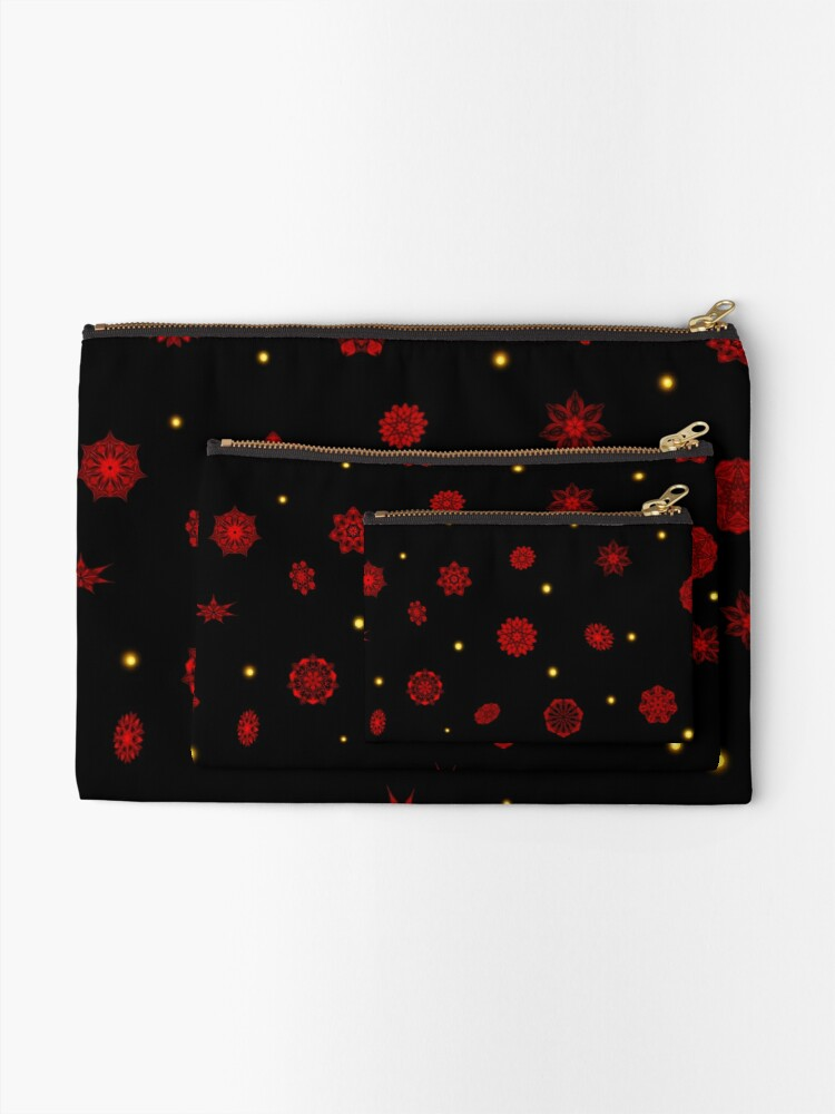 Alternate view of Fire in the Night Zipper Pouch