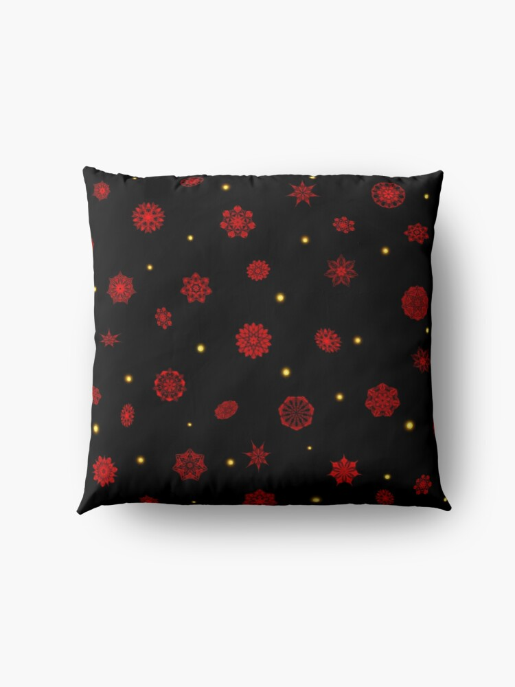 Alternate view of Fire in the Night Floor Pillow