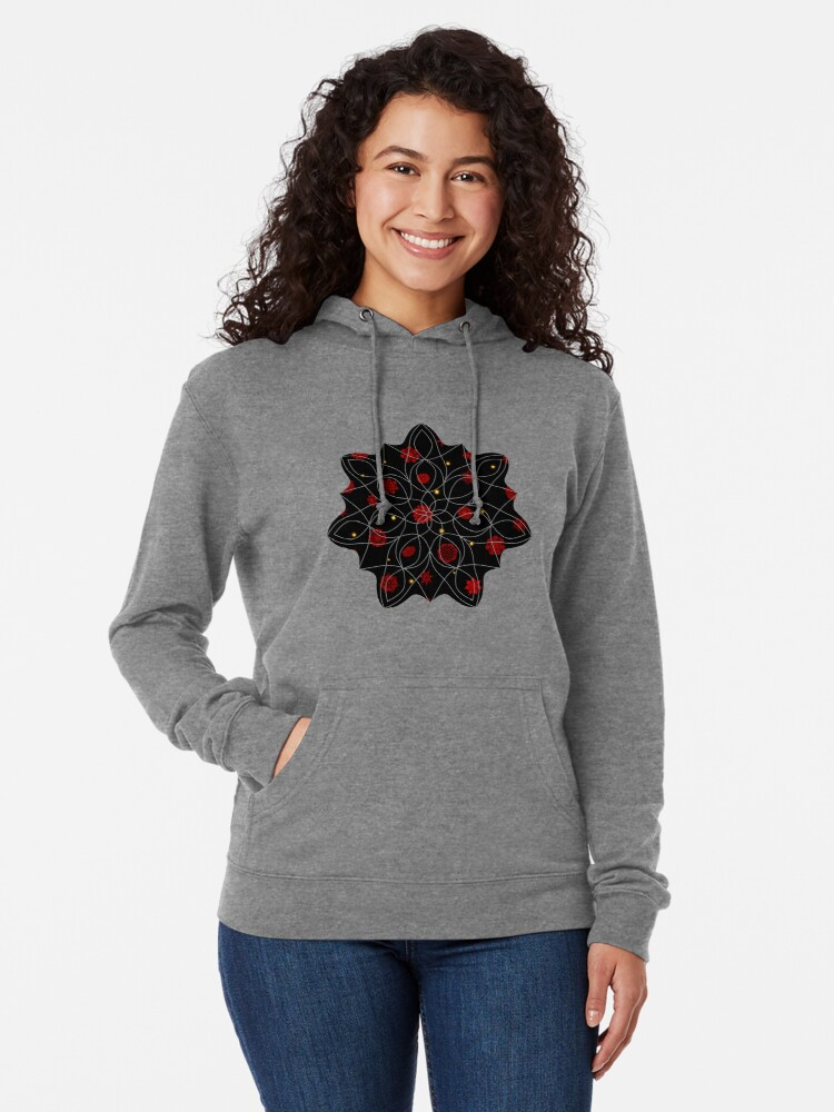 Alternate view of Fire in the Night Lightweight Hoodie