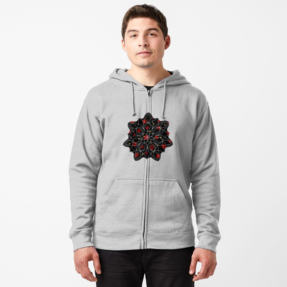 Fire in the Night Zipped Hoodie