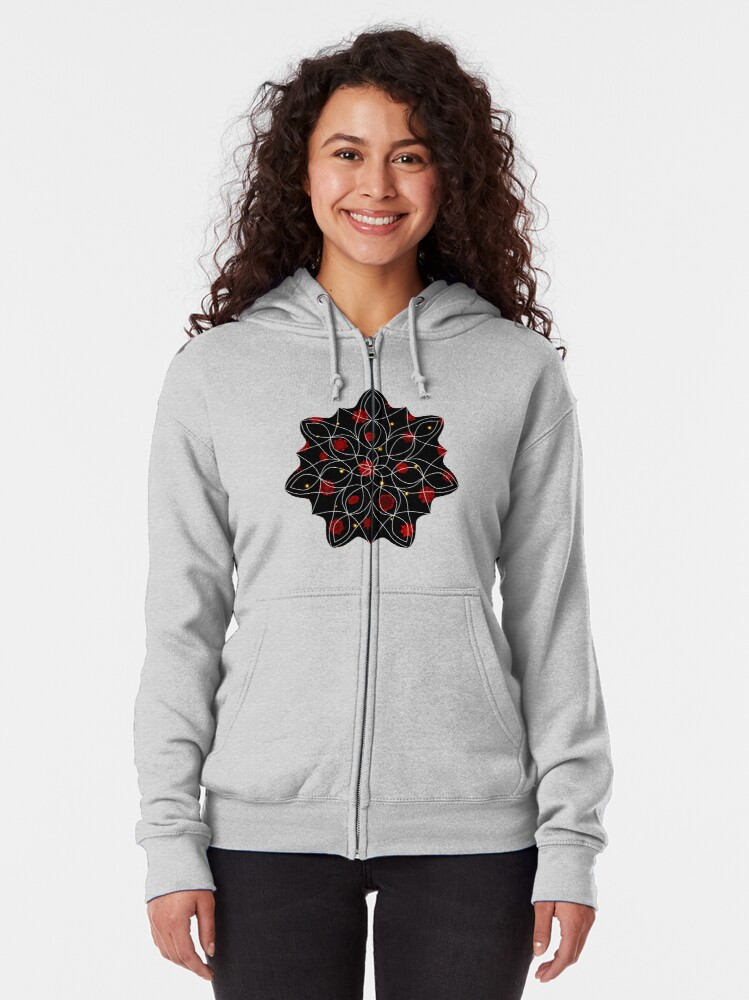 Alternate view of Fire in the Night Zipped Hoodie
