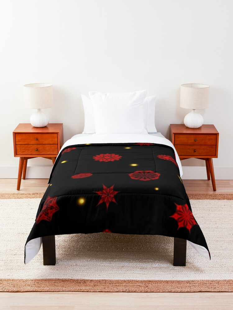 Alternate view of Fire in the Night Comforter