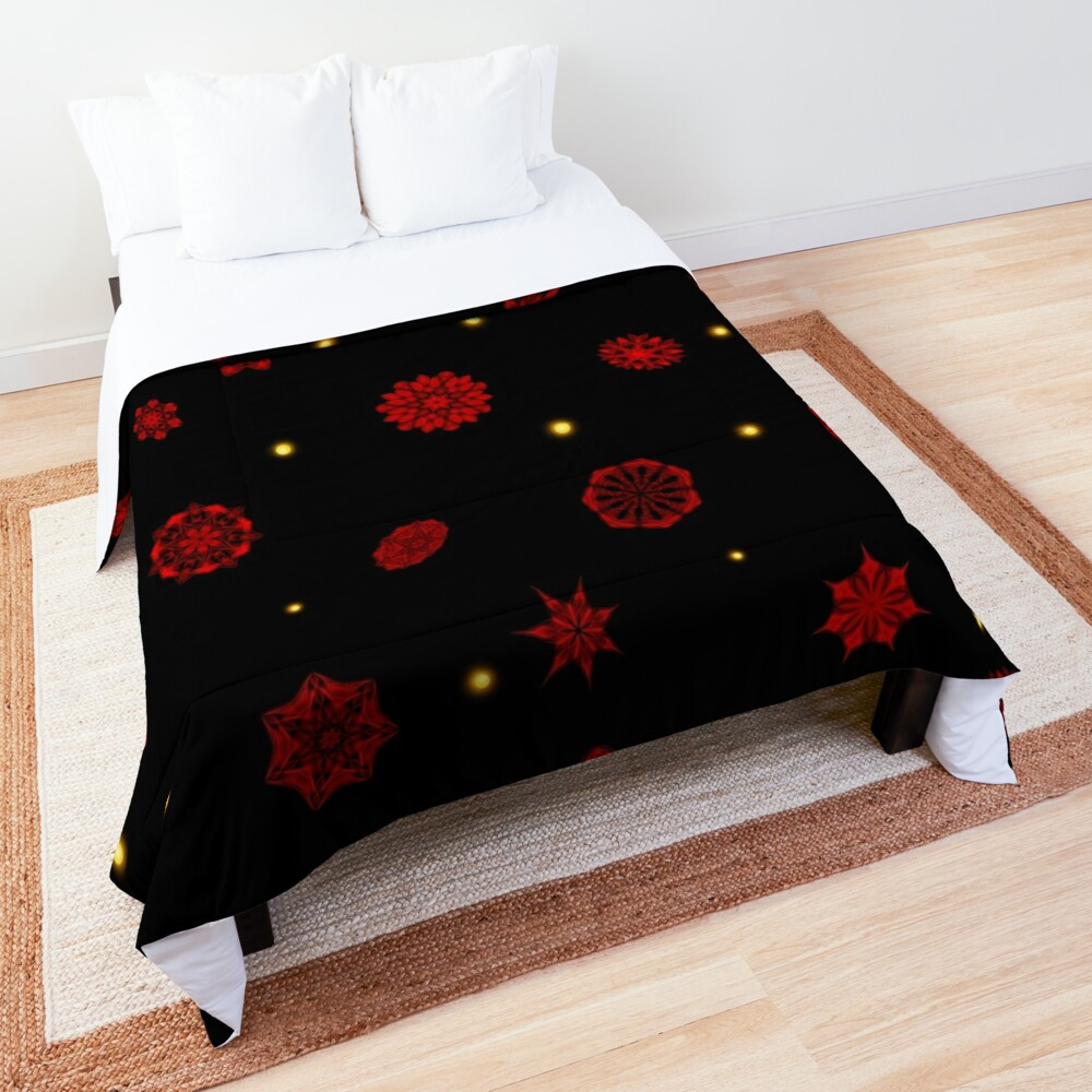 Fire in the Night Comforter