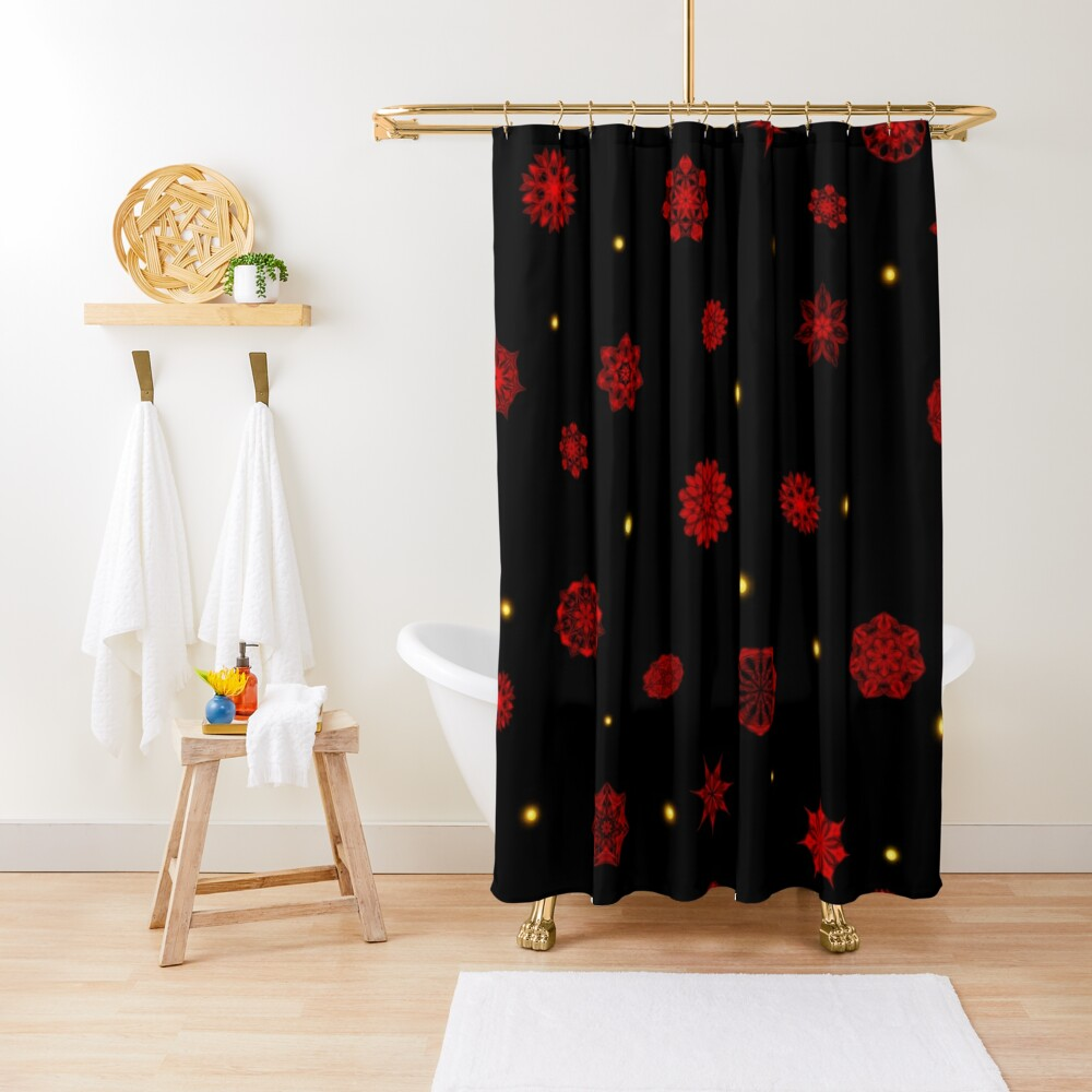 Fire in the Night Shower Curtain