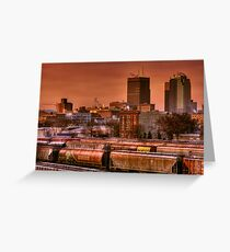 Morning Express - Winnipeg Greeting Card