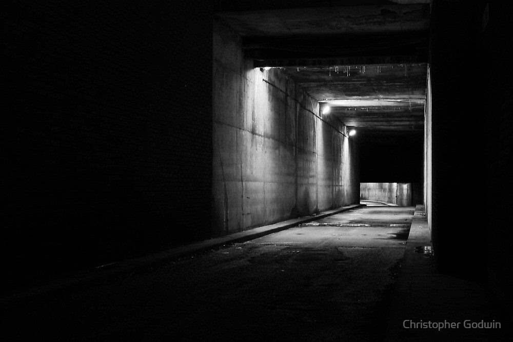 """""""Black and White Tunnel"""" by Christopher Godwin 