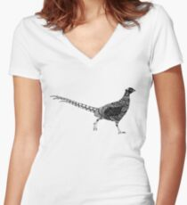 Pheasant Women's Fitted V-Neck T-Shirt