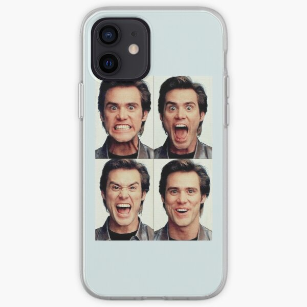 Jim Carrey faces in color iPhone Soft Case