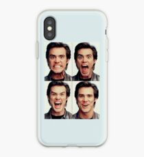 Jim Carrey faces in color iPhone Case