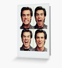 Jim Carrey faces in color Greeting Card