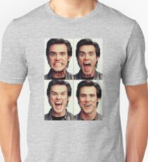 Jim Carrey faces in color T-Shirt