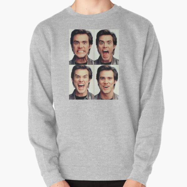 Jim Carrey faces in color Pullover Sweatshirt