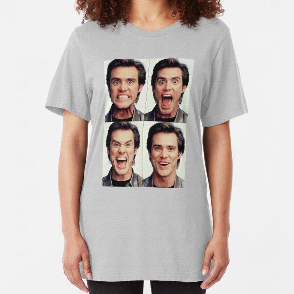 Jim Carrey faces in color Slim Fit T-Shirt