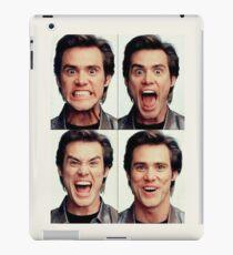 Jim Carrey faces in color iPad Case/Skin
